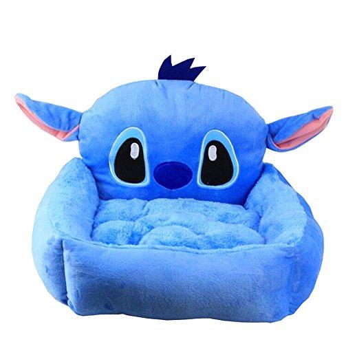 Micat® Cartoon Hundekissen Pet Nest Dog House Warm Hundesofa Sofa Kleiner Teddy VIP, 8 Arten von Designs (L: Passend für weniger als 6 kg Haustiere, 007: Blau-Stich)