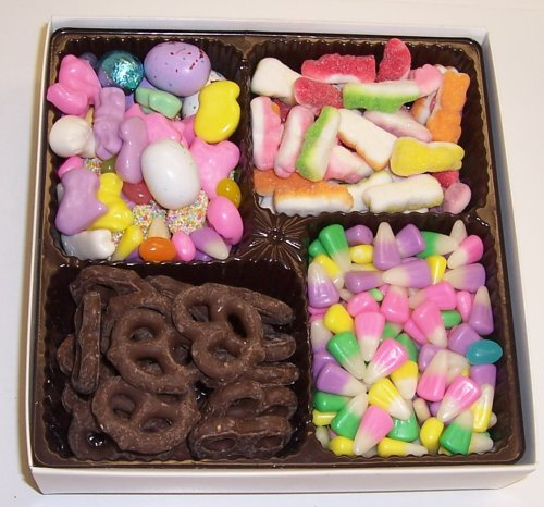 Scott's Cakes Large 4-Pack Bunny Corn, Chocolate Malt Eggs, Deluxe Easter Mix, & Dark Pretzels
