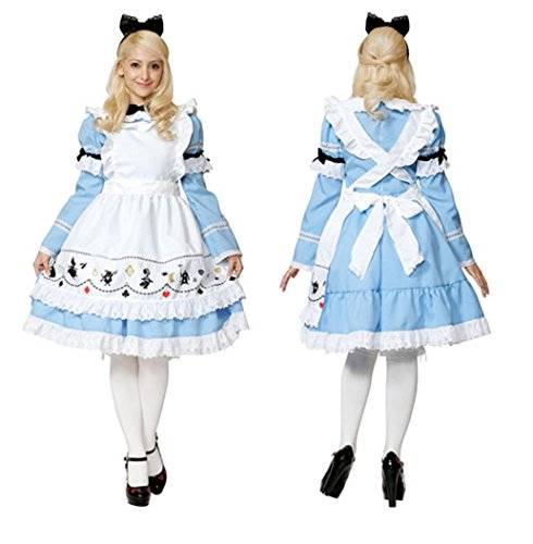 Disney Alice in Wonderland Costume - Classic-Style Adult Costume - Teen/Women's XS/S Size ()