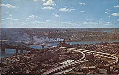 Brent Spence Bridge Covington, Kentucky Original Vintage Postcard