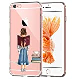 iPhone6s Case, iPhone 6 Case ,Qissy soft TPU Art Pattern Case for iPhone 6/6S (Beautiful supermodel fashion girl) (8)