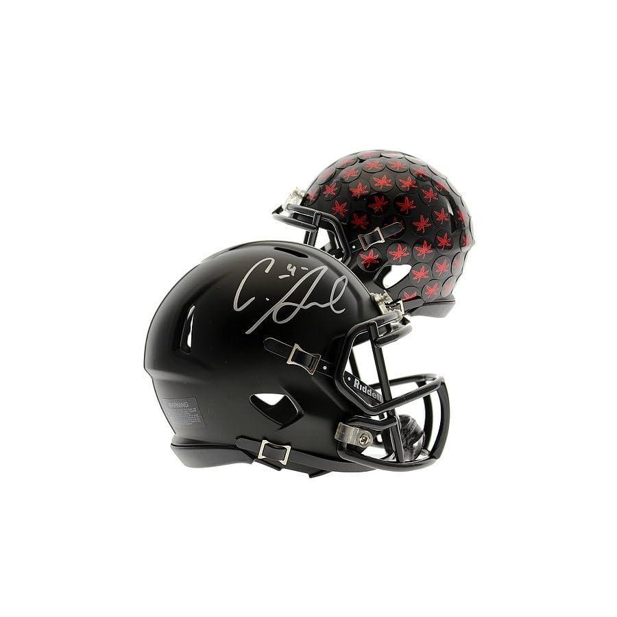 Curtis Samuel Autographed Ohio State Buckeyes Alternate Black Speed Mini Helmet Certified Authentic