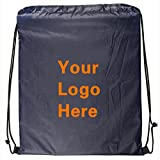 Ultra-Light Promotional Drawstring Bag String-A-Sling Backpack- 13''w x 16''h- 150 Quantity - $1.60 Each-Promotional Products Bulk Custom Branded with YOUR LOGO for Free/C2BPromo #C2BB0050-Navy