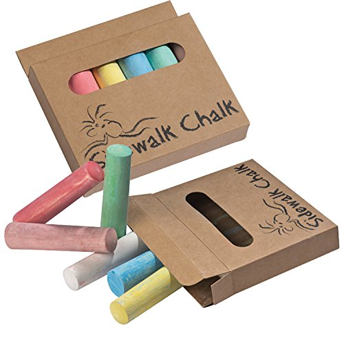 Stangen Stra/ßenmalkreide 24 Stra/ßenkreide 4x 6 6 verschiedene Farben