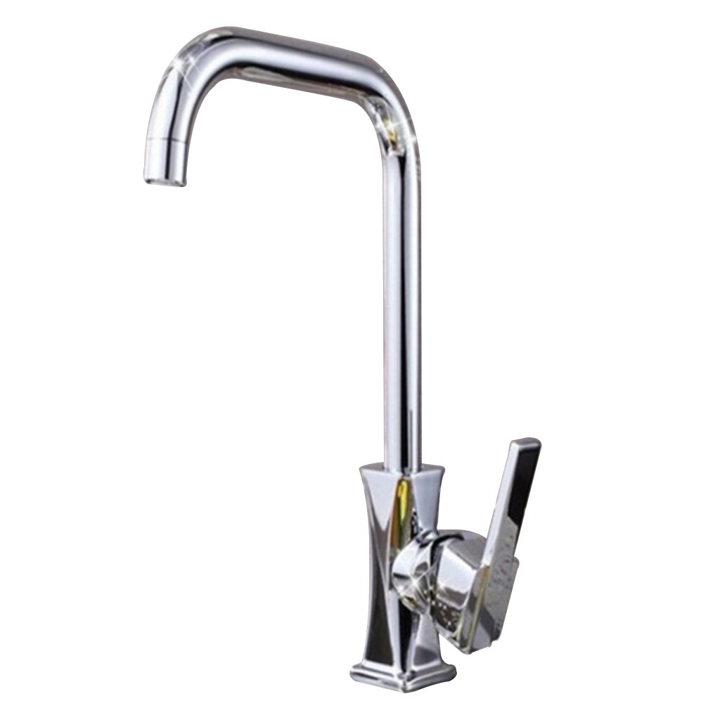 LaaN Kitchen Bathroom Hot and Cold Water Basin Single Single-hole Bathroom Sink Taps Copper Core Body Faucet