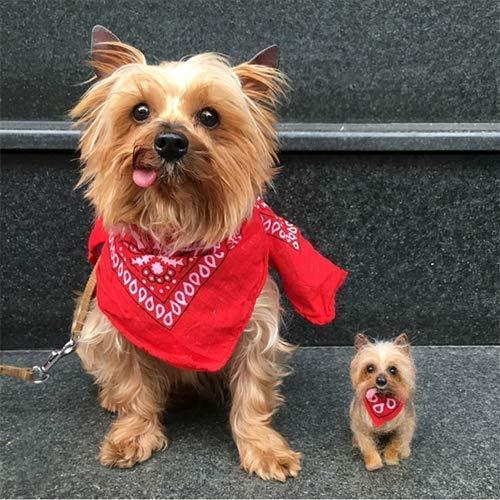 Mini Needle Felted Dog Portrait, Custom dog memorial ()