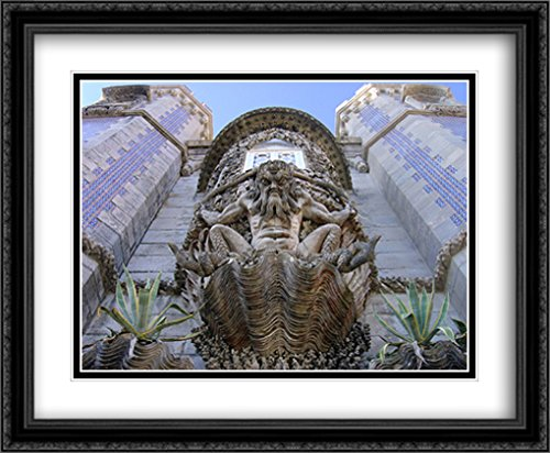 Series Sintra (Pena Palace, Sintra, Portugal 2x Matted 34x28 Large Black Ornate Framed Art Print by The Cityscape Art Print Series)