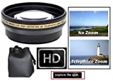 2.2x Hi-Def Telephoto Lens for Sony Alpha A5000 A5100 ILCE-5000 ILCE-5100 (40.5mm Compatible)