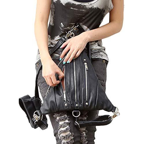 Qiu única negro Viaje Talla Bandolera de con de Bolso Black1 para Mujer diseño Steampunk rHT7xrqwB