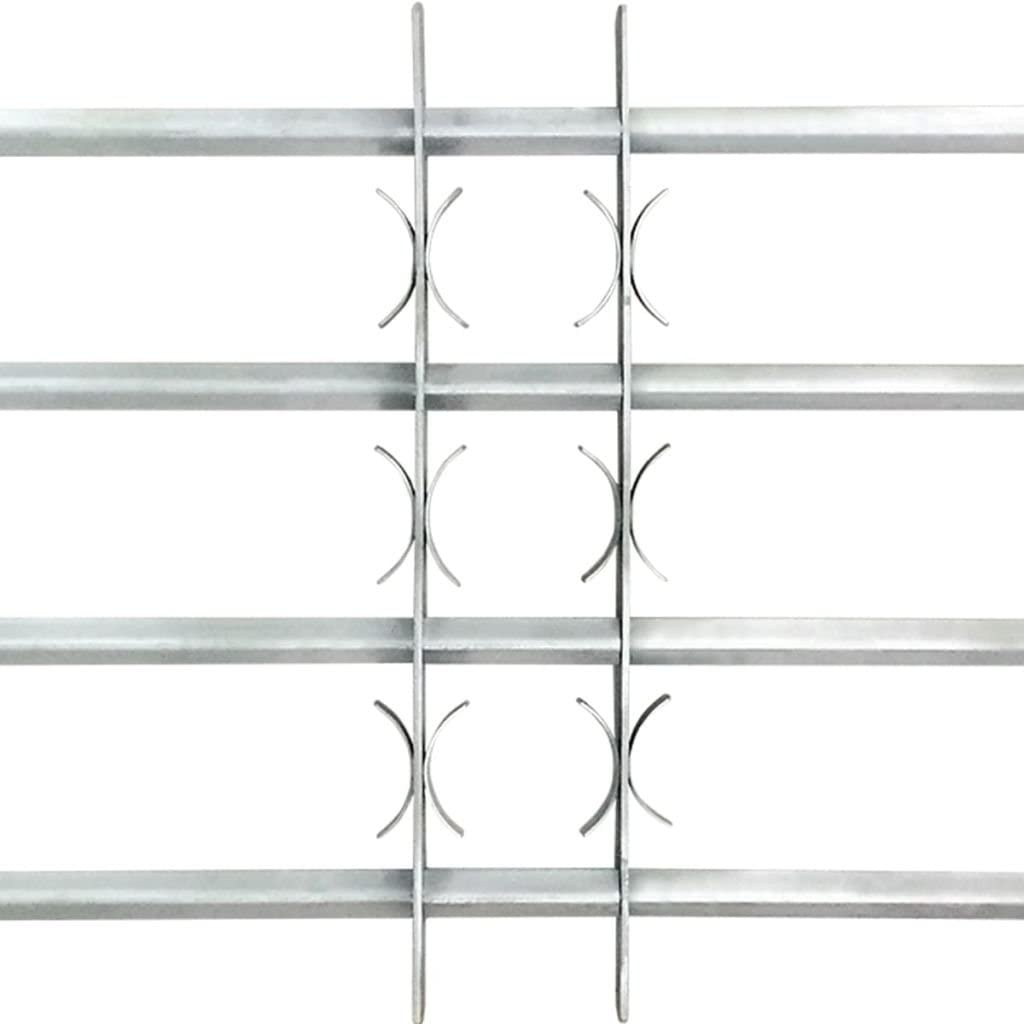 Tidyard Barandilla Ajustable para Ventana,Ventana Rejilla,Reja de Seguridad para Ventana,Decoraci/ón para Hogar,con 4 Travesa/ños S/ólidos,Acero Galvanizado 500-650mm