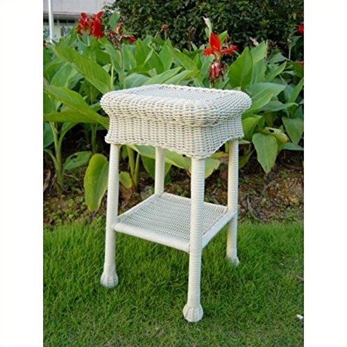 International Caravan 3160-AB-IC Furniture Piece Small Pvc Resin Side Table, Antique Black - Contemporary Resin Side Table