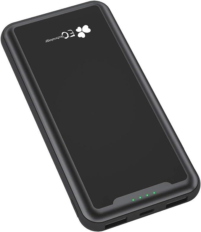 EC TECHNOLOGY Batería Externa 15000mah de PowerBank de diseño Bolsillo de Doble Salida USB 2.4A Cargador Móvil Portátil de Portable Charger de Bateria Portatil Carga Rapida para Smartphone y Tablet: Amazon.es: Electrónica