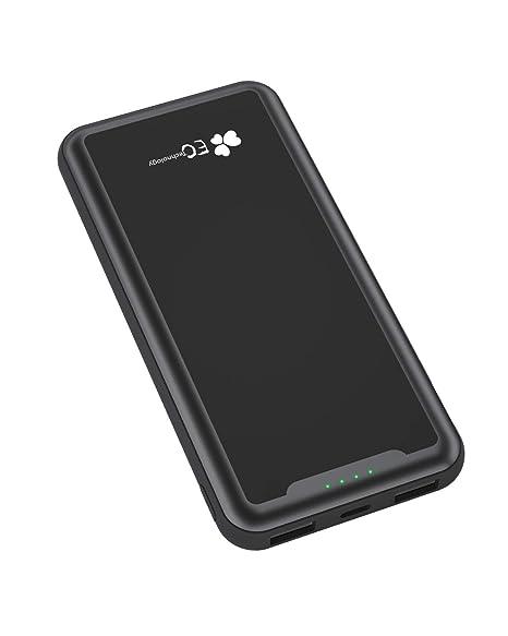 EC TECHNOLOGY Batería Externa 15000mah de PowerBank de diseño Bolsillo de Doble Salida USB 2.4A Cargador Móvil Portátil de Portable Charger de Bateria ...