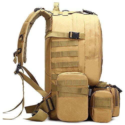 à Tactique 50L Imperméable Camouflage Sac Sac Sac Bandoulière à Dos ZnnFfx5T
