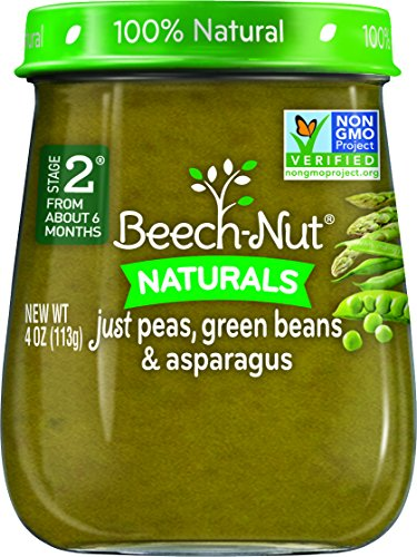 Beech-Nut Stage 2 Baby Food, Peas/Green Beans/Asparagus, 4 O