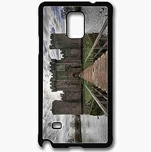 Unique Design Fashion Protective Back Cover For Samsung Galaxy Note 4 Case Castle Black