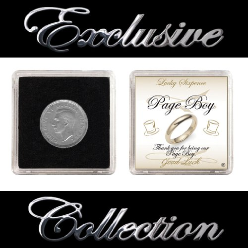 LUCKY SIXPENCE KEEPSAKE FOR PAGEBOY THANK YOU GIFT