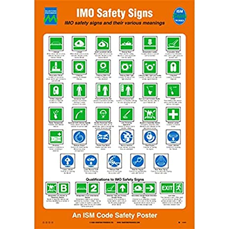 Amazon com : 1036 Poster, IMO safety signs : Everything Else