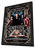 The Great Gatsby 3D (2013) 27 x 40 Movie Poster - Style A - in Deluxe Wood Frame
