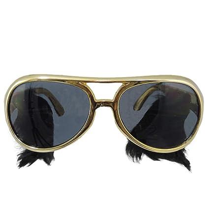 Amazon.com: Marco de oro Classic Elvis Disfraz anteojos de ...