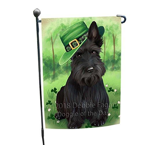 St. Patricks Day Irish Portrait Scottish Terrier Dog Garden Flag GFLG49169