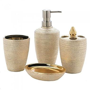 10018331 Accent Plus Golden Shimmer Bath Set