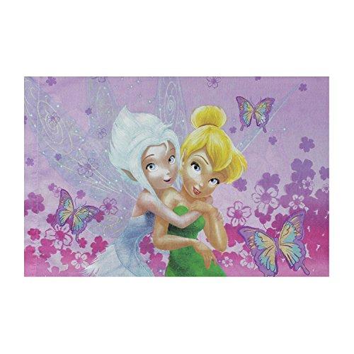 Tinkerbell Throw - Disney Fairies Cotton Rich Reversible Pillowcase