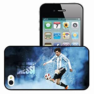Personalized iPhone 4 4S Cell phone Case/Cover Skin Creative lionel messi argentina 2013 Black
