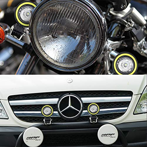 automotive, lights & lighting accessories, accent & off road lighting,  light bars  on sale, Motorcycle LED Fog Lights,20W Driving Spot Lights Round Cree LED Offroad Motorcycle Bike Lights with Halo Ring for Truck Car ATV Jeep in US4