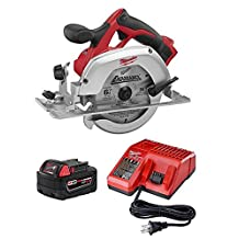Milwaukee 2630-20 18-Volt 6-1/2-Inch Circular Saw, Includes Milwaukee M18 XC High Capacity REDLITHIUM™ Battery and Charger