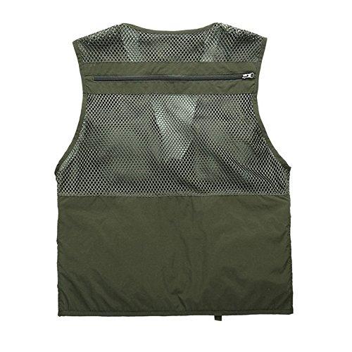 GAOLIXIA Sightseeing Veste Gilet pour poches Mens Tops Pêche Gilet Armygreen Photographie Aventure Outdoor Camping Voyager multi Safari 5q1CwxZ0n