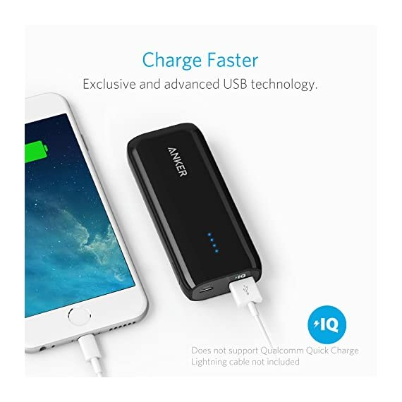 Anker Astro E1 5200mAh Candy bar-Sized Ultra Compact Portable Charger (External Battery Power Bank) with High-Speed Charging PowerIQ Technology 4