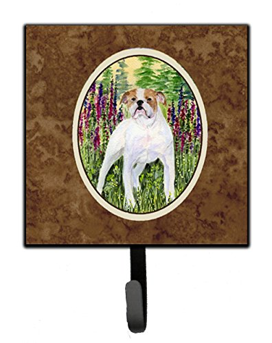 (Caroline's Treasures SS8156SH4 English Bulldog Leash Holder or Key Hook, Small,)