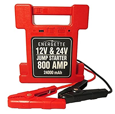 ENERGETTE POWER FREAK Jump Starter. For your Car and Heavy Duty Commercial Truck 12/24V, 24000mAh - Multi-Function Auto Start Power & Ultra-bright LED Flashlight for SOS, and High Capacity Power Bank.