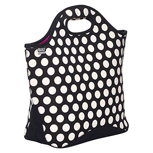 Built NY 5233536 Reusable Shopper Tote Bag, One Size, Big Dot Black & White