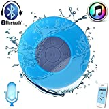 Bluetooth Speaker Portable Waterproof with Suction Cup and Built-in Mic Powerful Handsfree Speakerphone