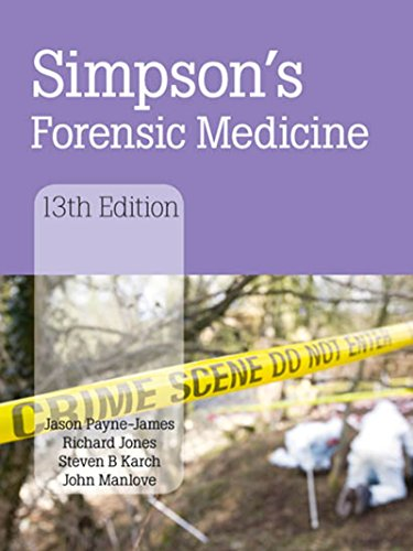 Download Simpson's Forensic Medicine, 13th Edition Pdf