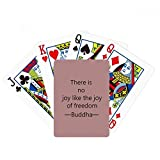 beatChong No Joy Like Freedom Buddha Quote Buddhism Poker Playing Card Tabletop Board Game Gift