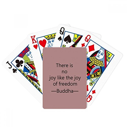 beatChong No Joy Like Freedom Buddha Quote Buddhism Poker Playing Card Tabletop Board Game Gift by beatChong