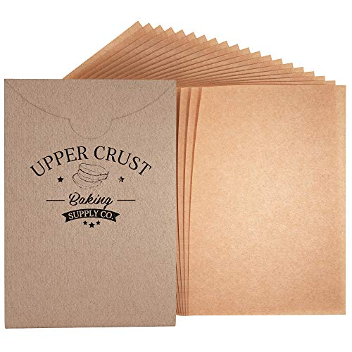 200 Sheets, 12X16 Cookie Sheets, Upper Crust Baking Supply Co. Premium Baking Parchment Paper Sheets, Precut Unbleached and Non-Stick Baking Sheets ()