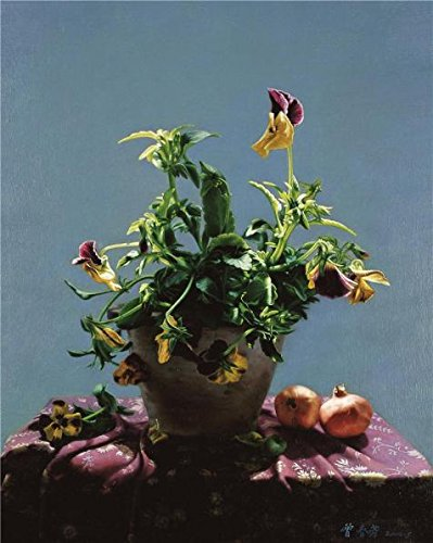 (The Perfect Effect Canvas Of Oil Painting 'Still Life With Flowers And Pomegranates' ,size: 8x10 Inch / 20x25 Cm ,this Best Price Art Decorative Prints On Canvas Is Fit For Powder Room Decoration And Home Decoration And Gifts)