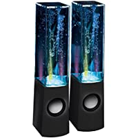 Proxelle LED Dancing Water Speakers Light Music Water Fountain Show Portable Speaker with 3.5 mm Audio Jack