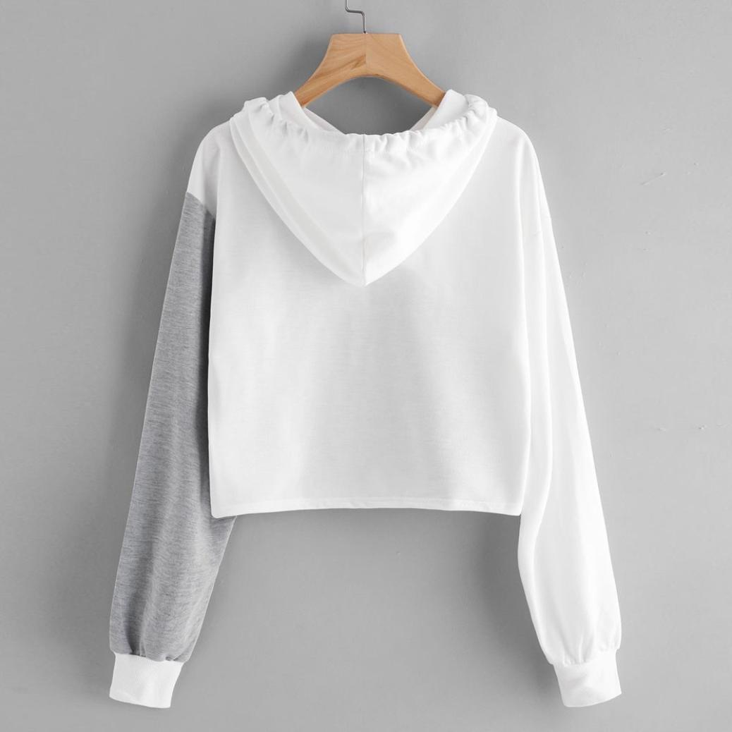 Bolayu Womens Long Sleeve Hooded Pullover Hoodie Sweatshirt