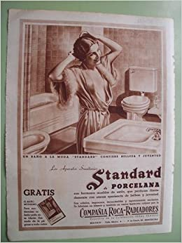 Antigua Hoja Publicidad - Old Sheet of Advertising : COMPAÑÍA ROCA - RADIADORES - Standard de Porcelna. Baño: Amazon.es: Sin autor: Libros
