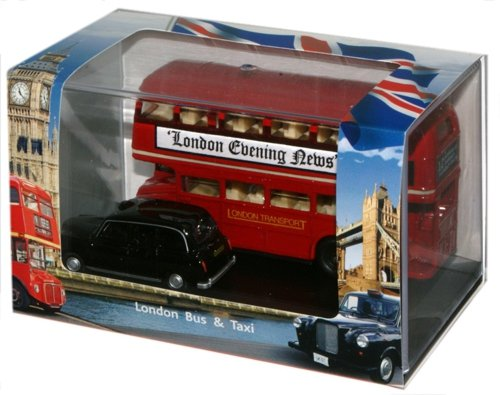 Oxford Diecast London Bus And Taxi Gift Pack Accurate Diecast Model