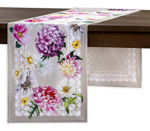 Maison d' Hermine Pivoine 100% Cotton Table Runner - Double Layer 14.5 Inch by 72 Inch