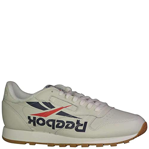 3d249f13776 Reebok Men s CL Leather 3AM ATL Fashion Sneakers Lvrn White Washed  Blue Primal Red