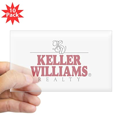 Amazon com cafepress keller williams realty rectangle sticker rectangle bumper sticker 10 pack car decal home kitchen