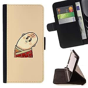 Jordan Colourful Shop - Funny Bald Man For Apple Iphone 6 PLUS 5.5 - Leather Case Absorci???¡¯???€????€??????????&f