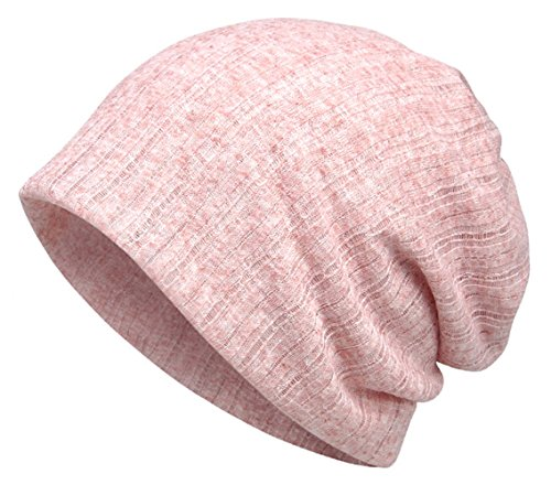 (Jemis Women's Chemo Hat Beanie Scarf Liner for Turban Hat Headwear for Cancer (Pink))